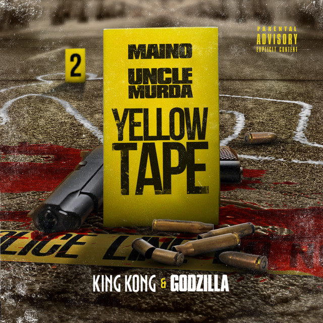 Album cover for Yellow Tape: King Kong & Godzilla by Maino, Uncle Murda