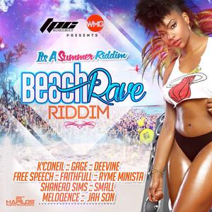 Beach Rave Riddim Albumcover