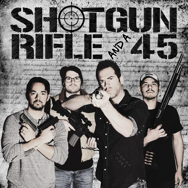 Shotgun, Rifle, And A .45