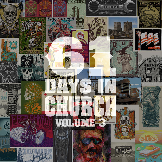Eric Church 61 Days In Church Volume 3 album cover
