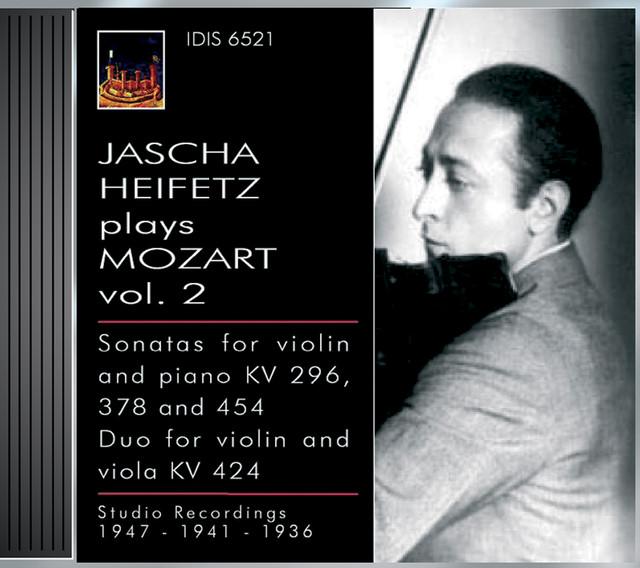 Mozart, W.A.: Violin Sonatas Nos. 17, 26 and 32 / Duo for Violin and Viola, K. 424 (Jascha Heifetz Plays Mozart, Vol. 2) (1936, 1941, 1947) Albumcover