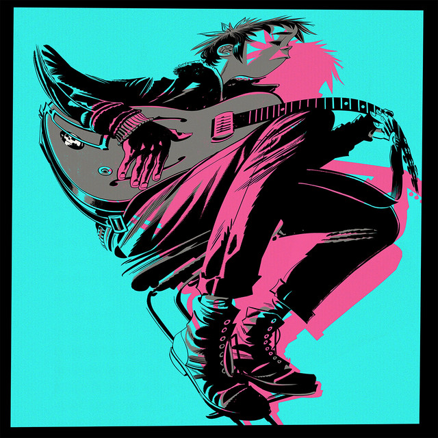 Album cover for The Now Now by Gorillaz