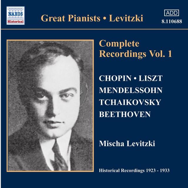 Levitzki, Mischa: Complete Recordings, Vol. 1 (1924-1928) Albumcover