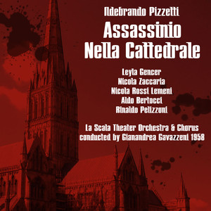 "Pizzetti: Assassinio Nella Cattedrale ""Murder In The Cathedral"",1958 Albümü"