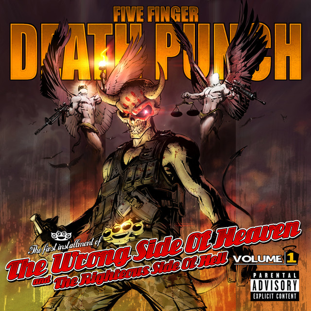 Five Finger Death Punch The Wrong Side of Heaven and the Righteous Side of Hell, Volume 1 album cover
