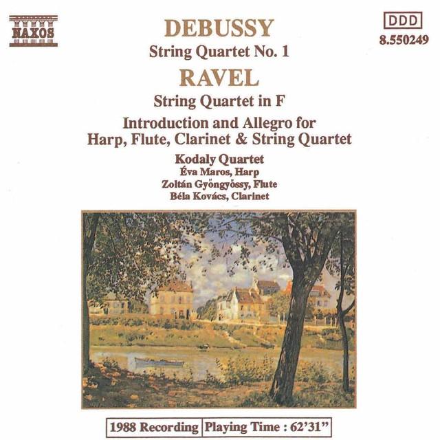 Debussy: String Quartet No. 1 / Ravel: String Quartet in F / Introduction and Allegro Albumcover