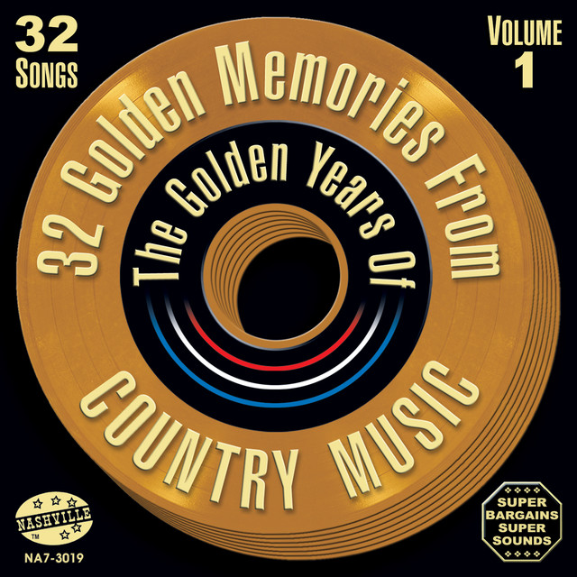 Various Artists 32 Golden Memories From The Golden Years Of Country Music Vol. 1 album cover