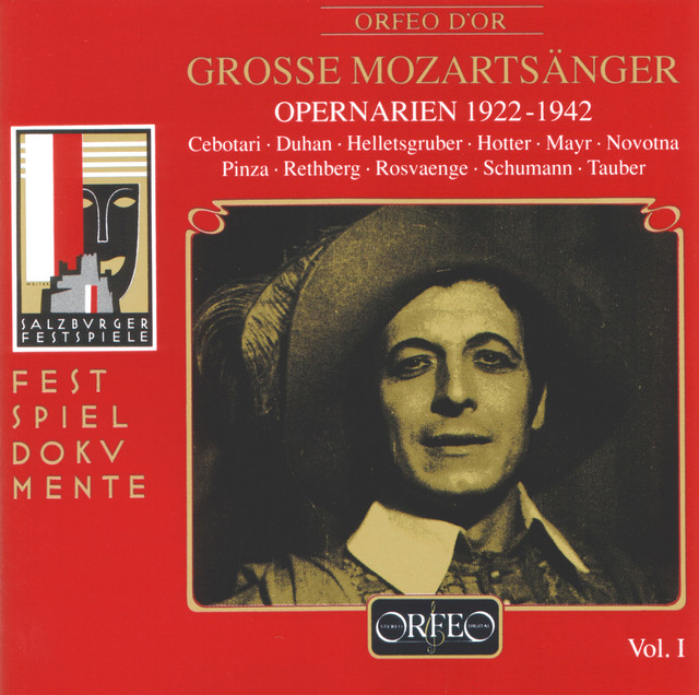 Album cover for Grosse Mozartsänger (Live) by