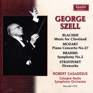 Blacher: Music for Cleveland - Mozart: Piano Concerto No. 27 - Brahms: Symphony No. 2 - Stravinsky: Fireworks Albumcover