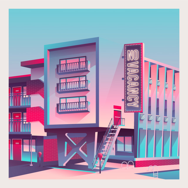 Album cover for no-vacancy by lost spaces