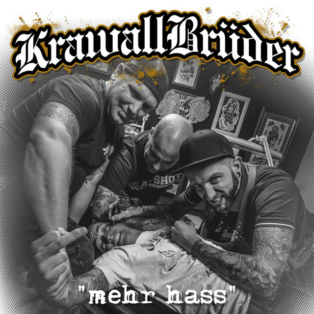 Album cover for mehr hass by Krawallbrüder