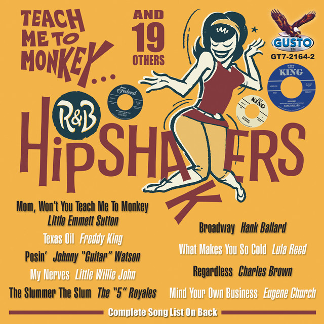 Various Artists R & B Hipshakers: Teach Me To Monkey album cover