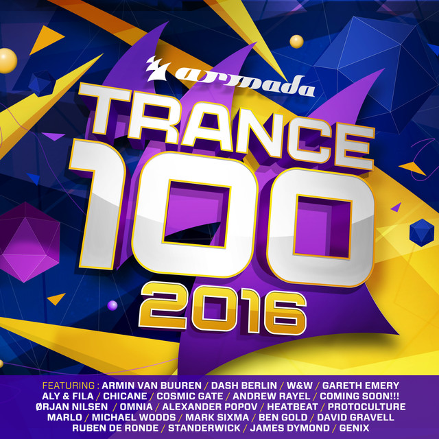 Album cover for Trance 100 - 2016 by Various Artists