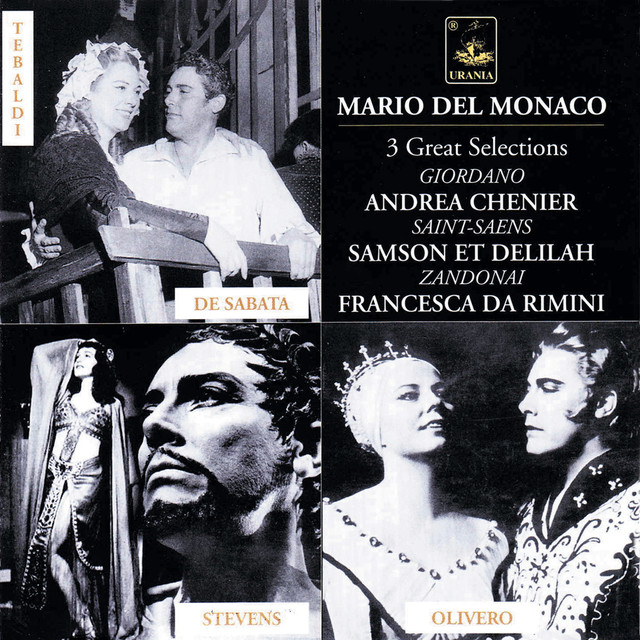 Mario Del Monaco: Selections of Giordano, Saint-Saëns, Riccardo Zandonai