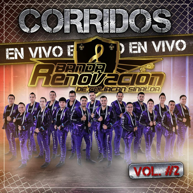 Album cover for Corridos en Vivo, Vol. 2 by Banda Renovacion