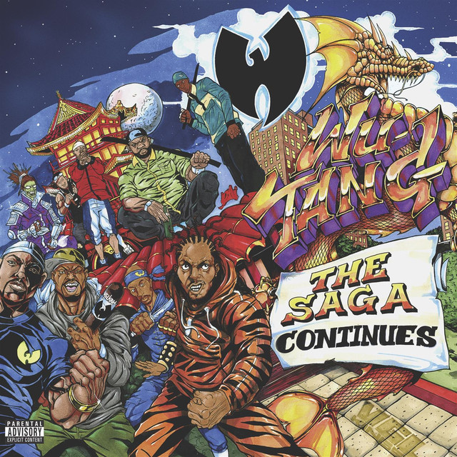 Wu‐Tang Clan The Saga Continues album cover