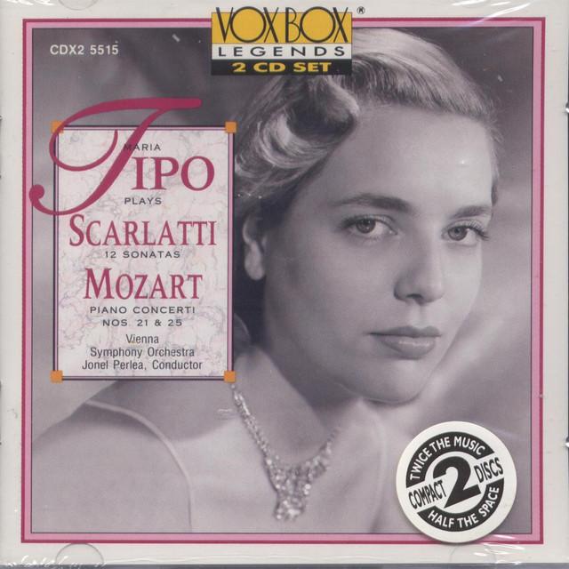 Maria Tipo Plays Mozart & Scarletti Albumcover