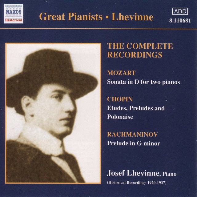 Lhevinne, Jozef: Complete Recordings (1920-1937) Albumcover