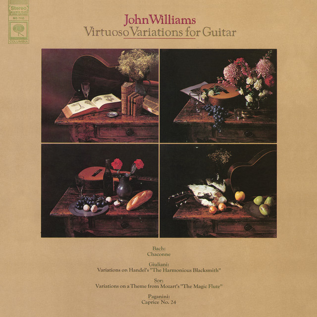 John Williams - Virtuoso Variations for Guitar Albumcover