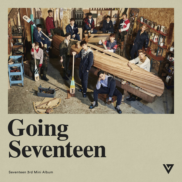 Album cover for Seventeen 3rd Mini Album 'Going Seventeen' by SEVENTEEN