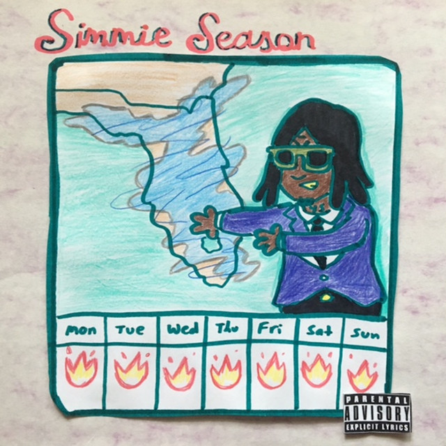 Album cover for Simmie Season by Yung Simmie