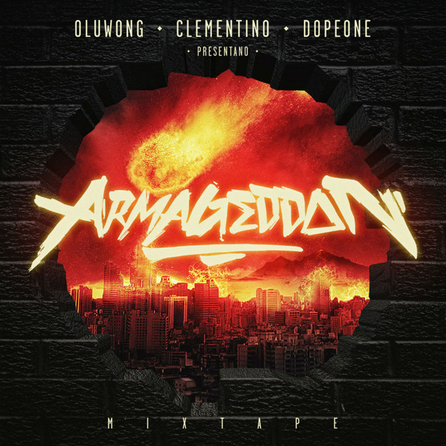 Clementino, Dope One, OLuWong Armageddon album cover