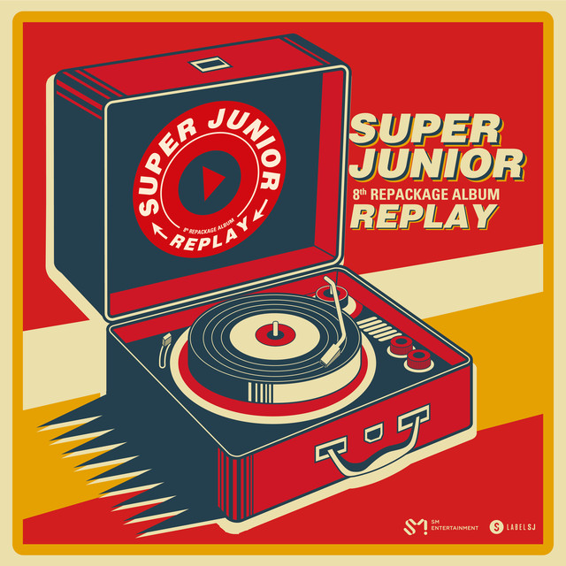 Album cover for REPLAY - The 8th Repackage Album by SUPER JUNIOR