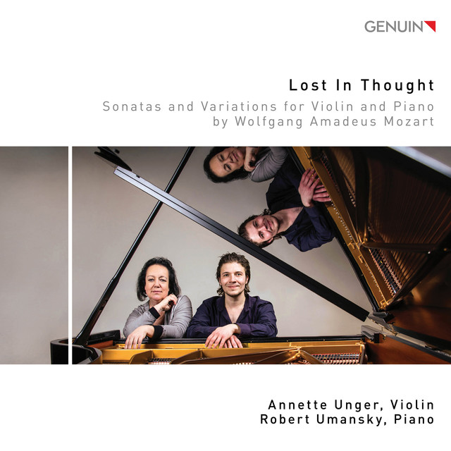 Album cover for Lost in Thought by Wolfgang Amadeus Mozart, Annette Unger, Robert Umansky