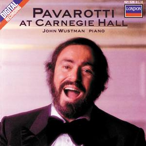 Pavarotti at Carnegie Hall Albumcover