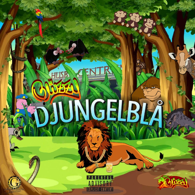 Album cover for Djungelblå by Blizzy