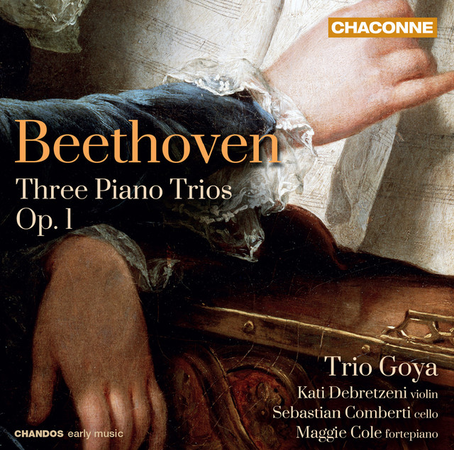 Album cover for Beethoven: Piano Trios Nos. 1-3 by Ludwig van Beethoven, Trio Goya