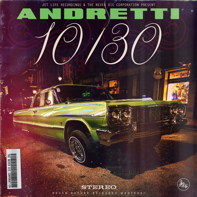 Album cover for Andretti 10/30 by Curren$y