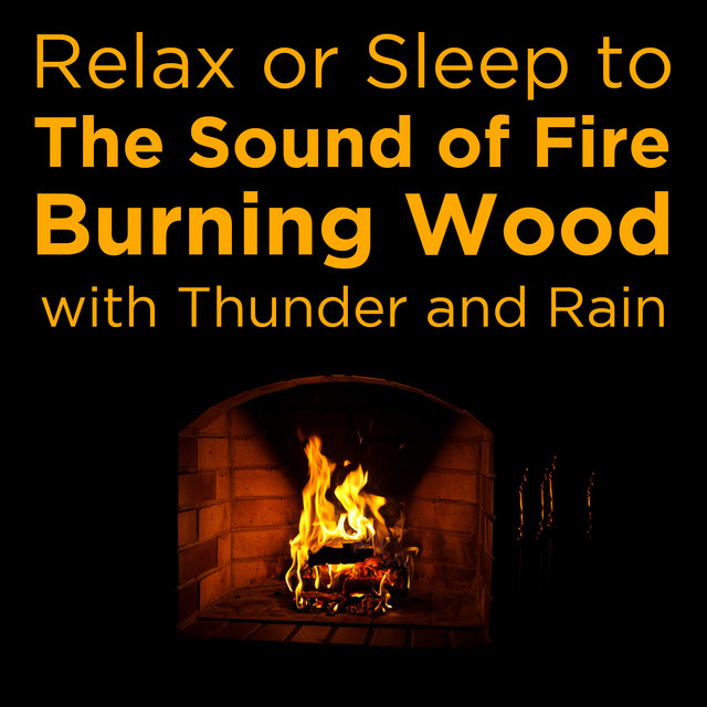 Relax or Sleep to the Sound of Fire Burning Wood with Thunder and Rain Albumcover