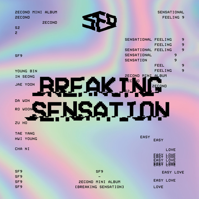 Album cover for SF9 2nd Mini Album [Breaking Sensation] by SF9
